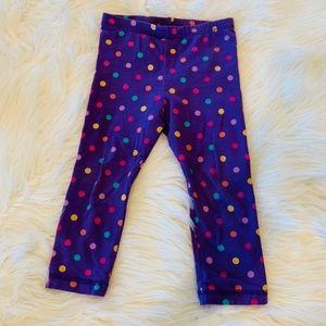 Polka dot colorful leggings